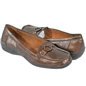 Naturalizer CADBY Loafers 10M Natural Soul Bronze